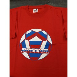 T-SHIRT ROUGE RUSSIE FOOTBALL