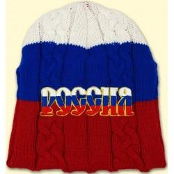 BONNET RUSSIE BLANC BLEU ROUGE