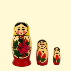 MATRIOCHKA TRADITIONNELLE (3 pièces - 7 cm)