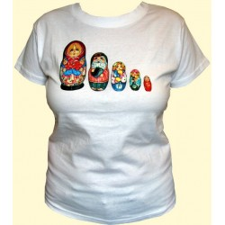 T-SHIRT MATRIOCHKA POUPEES RUSSES