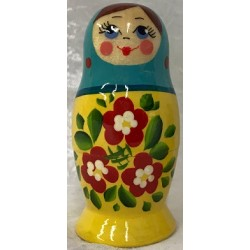 MATRIOCHKA ROSSIYANKA (3 pièces) bleu/jaune